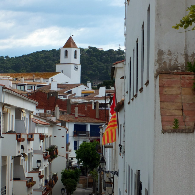 """Calella de Palafrugell Church"" stock image"