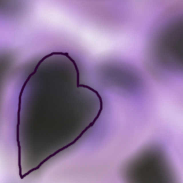 """purple hosta heart"" stock image"