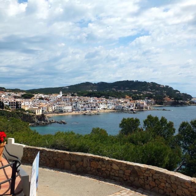 """""""Looking North To Calella De Palafrugell"""" stock image"""