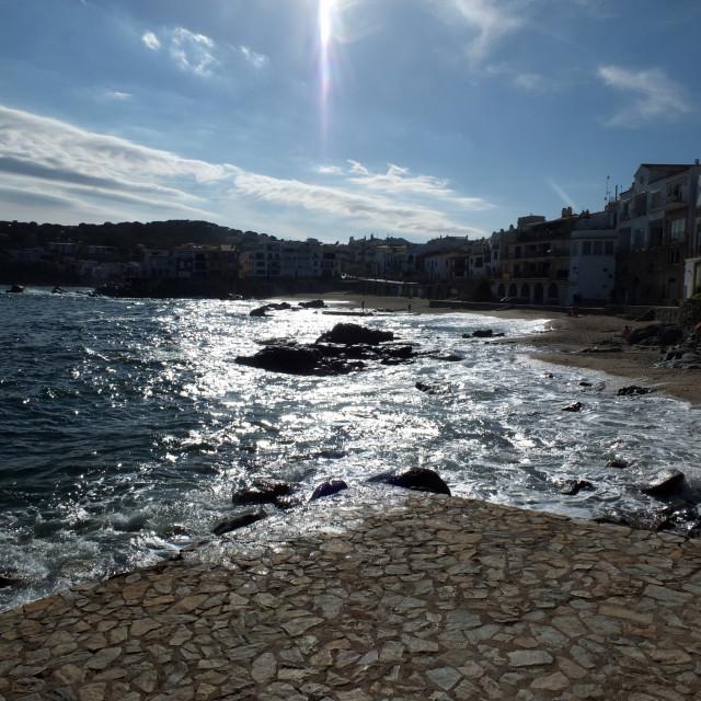 """Canadell Sunny Sea Of Calella De Palafrugell"" stock image"
