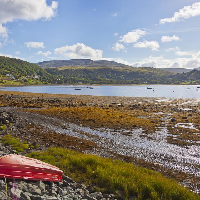 """""""Uig Bay on Isle of Skye"""" stock image"""