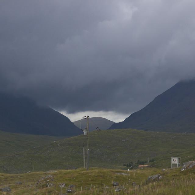 """Stormy skies on the Isle of Harris"" stock image"