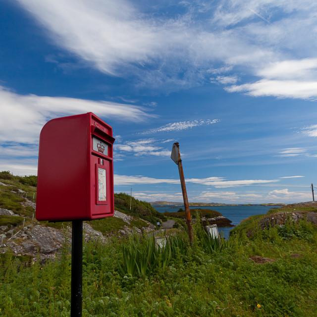 """Post box on the island"" stock image"
