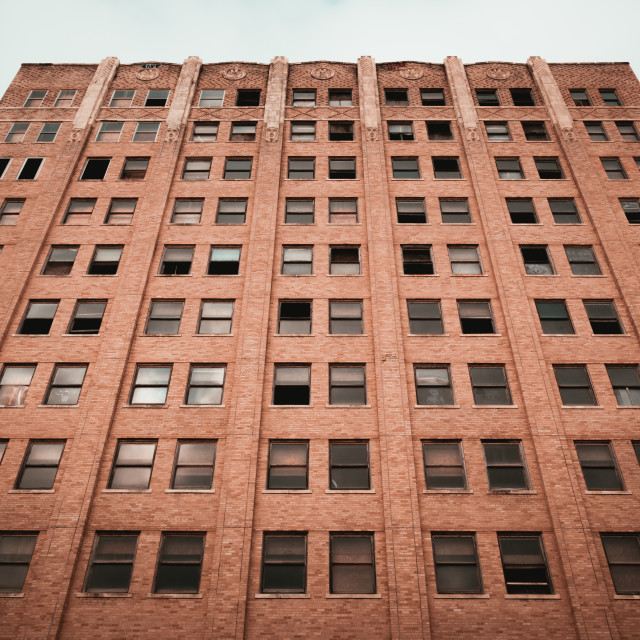 """""""An abandoned Art Deco building in Galveston, Texas"""" stock image"""