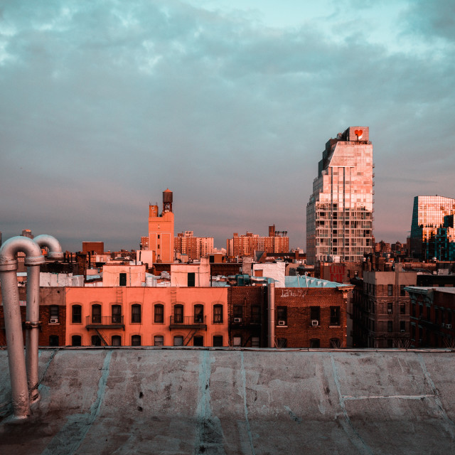 """New York Rooftop View"" stock image"