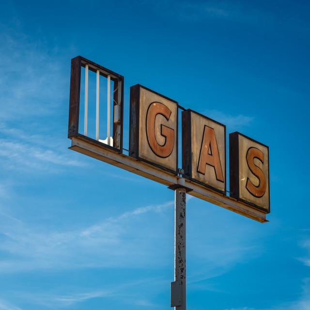 """""""Abandoned Gas"""" stock image"""