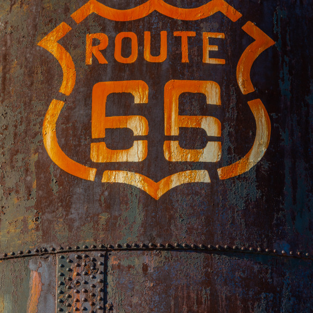 """Route 66 Iconic Marker"" stock image"