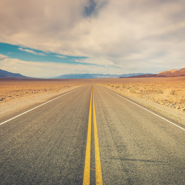 """Road Through Death Valley"" stock image"