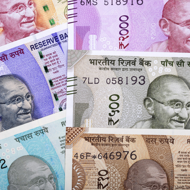 """Indian rupee, a background"" stock image"