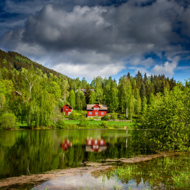 """Reflection in Norway"" stock image"