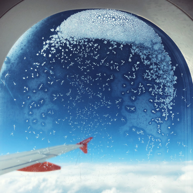 """""""View from a budget airline aircraft window."""" stock image"""