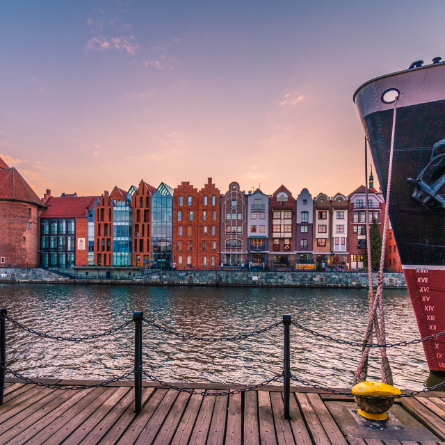 """Sunset in Gdansk"" stock image"