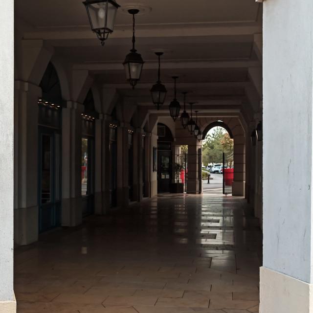 """""""Corridor Through A Building"""" stock image"""