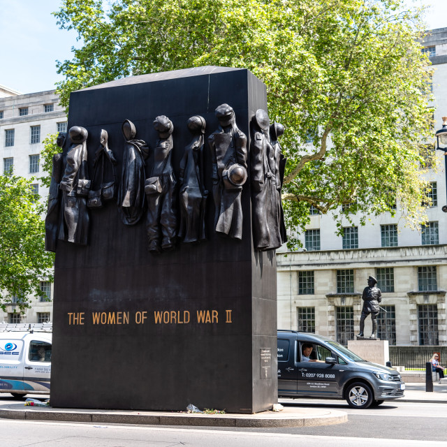 """""""Monument to The Women of World War II in London"""" stock image"""