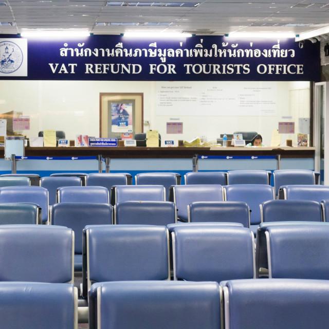 """""""Phuket airport vat refund office"""" stock image"""
