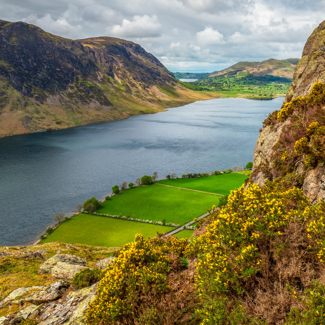 """A View Over Crummock Water."" stock image"
