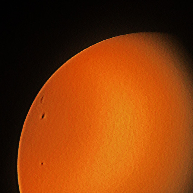 """""""Second image with the sun and sun spots"""" stock image"""
