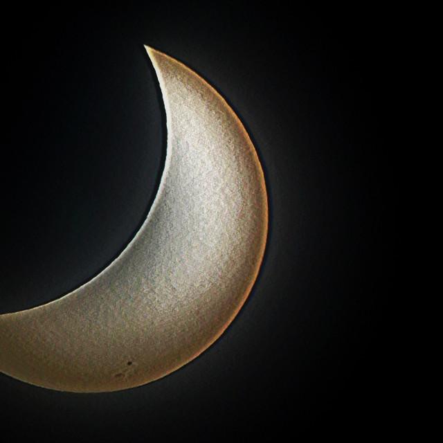 """2017 solar eclipse south Florida near maxium."" stock image"