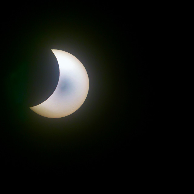 """""""2017 solar eclipse seen from south Florida"""" stock image"""