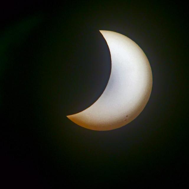 """2017 solar eclipse soth Florida"" stock image"
