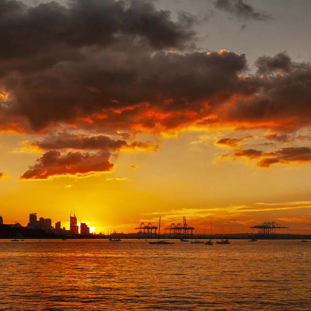 """""""Auckland city Sunset"""" stock image"""