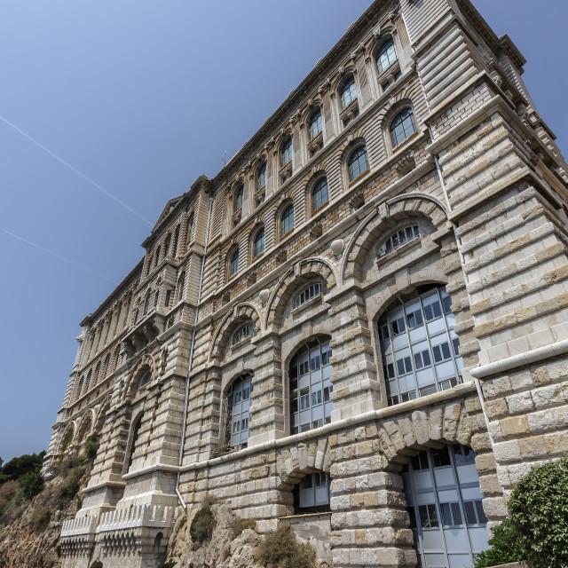 """""""Oceanographic museum building"""" stock image"""