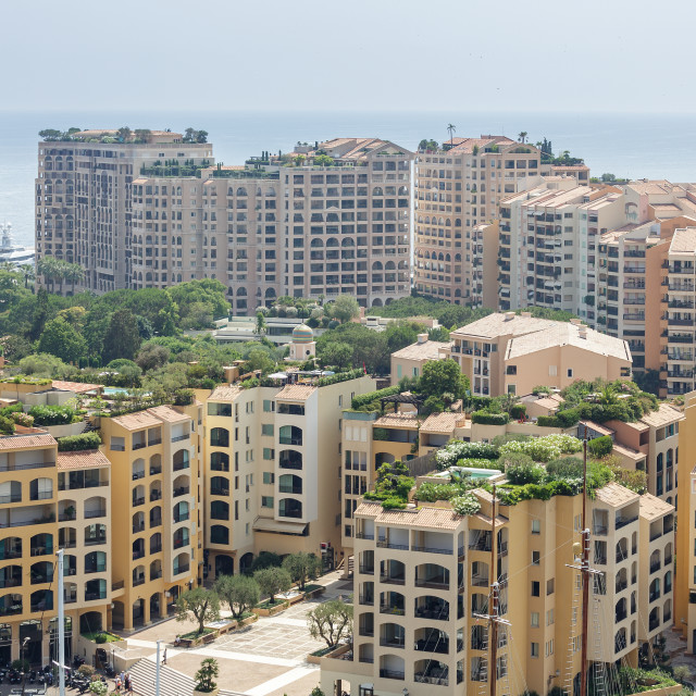 """""""Monaco Fontvieille cityscape Monte carlo French Riviera"""" stock image"""