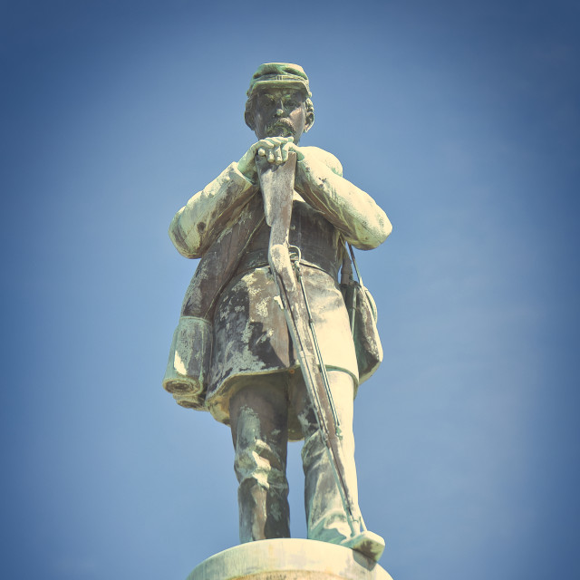 """Confederate Soldier Monument"" stock image"