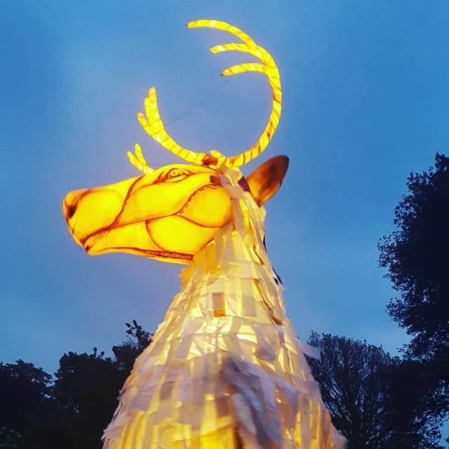 """Caribou light puppet"" stock image"