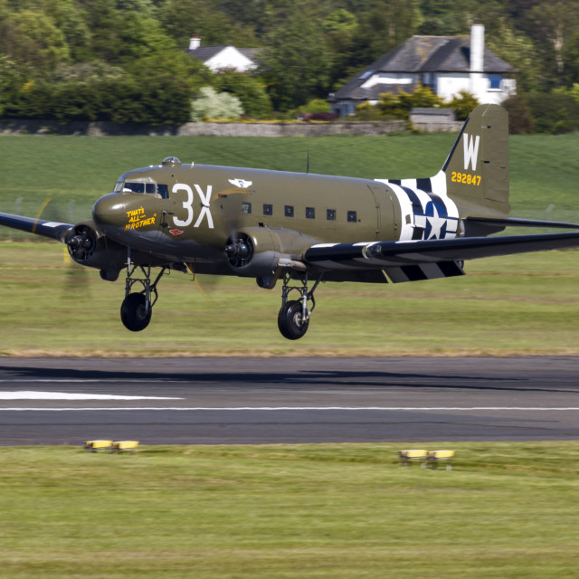 """C-47A Sytrain That's All Brother"" stock image"