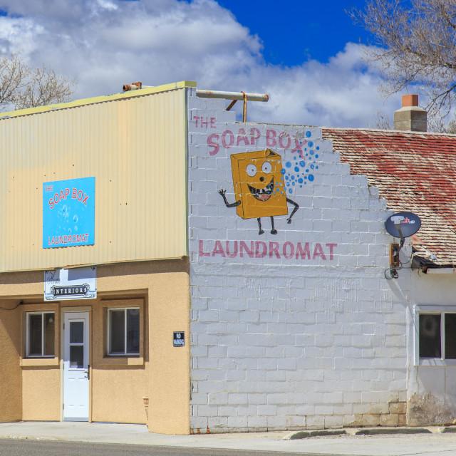 """The Soapbox Laundromat"" stock image"