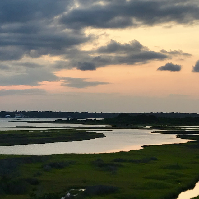 """Sunset on Topsail"" stock image"