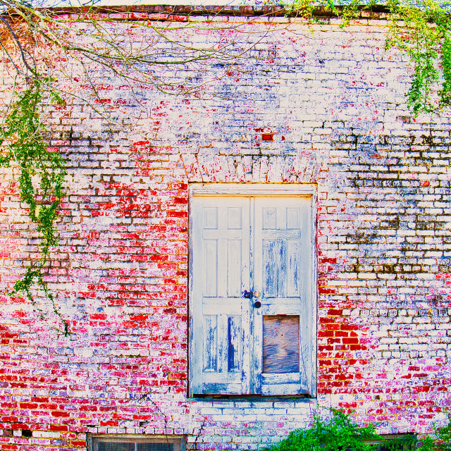 """Red Brick Wall"" stock image"