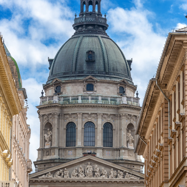 """""""St. Stephens Basilica Vertical View"""" stock image"""