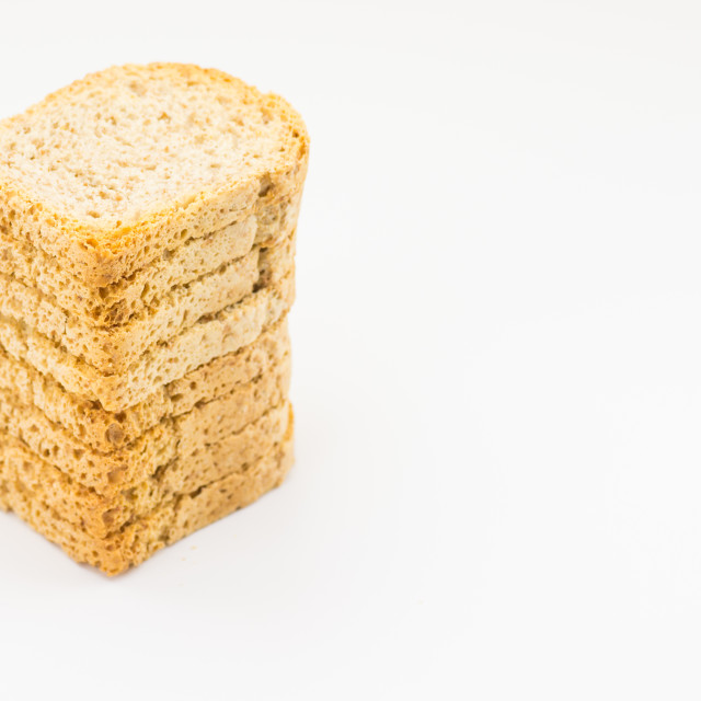 """""""wholemeal backed rusks"""" stock image"""