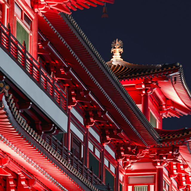 """Buddha Tooth Relic Temple"" stock image"