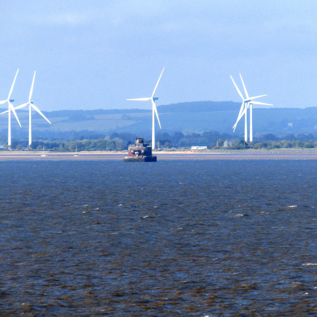 """Wind turbines onshore"" stock image"