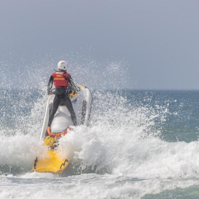 """""""R.N.L.I lifeguard"""" stock image"""