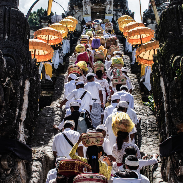 """Religious Procession in Bali, Indonesia"" stock image"