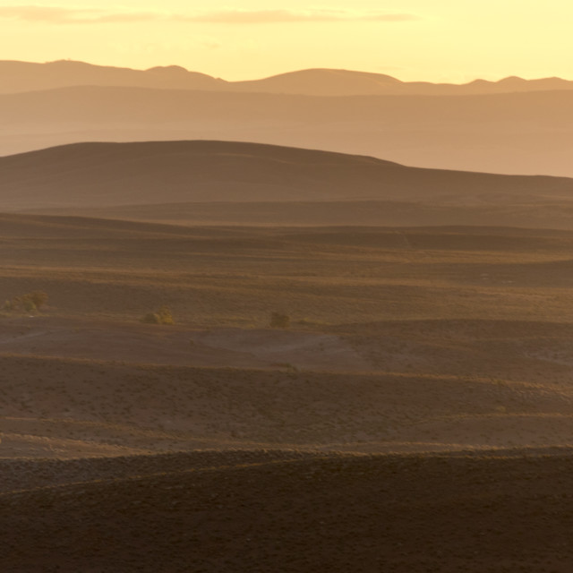 """5:52pm, Flinders Ranges"" stock image"