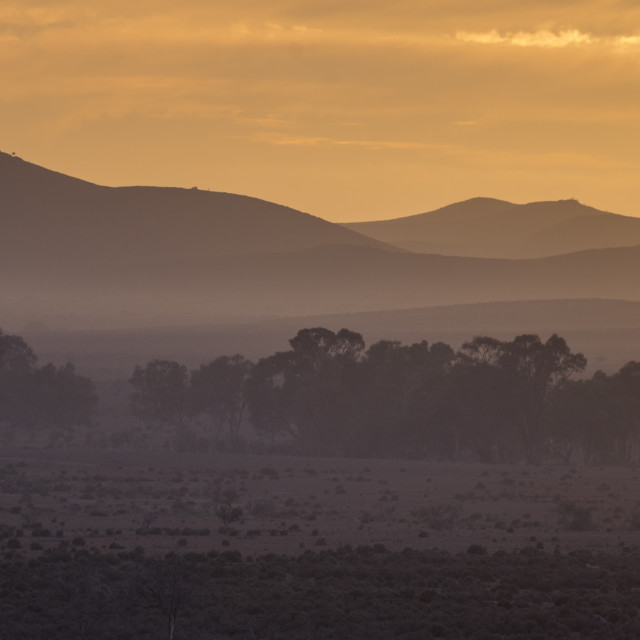 """5:50 am, Flinders Ranges"" stock image"