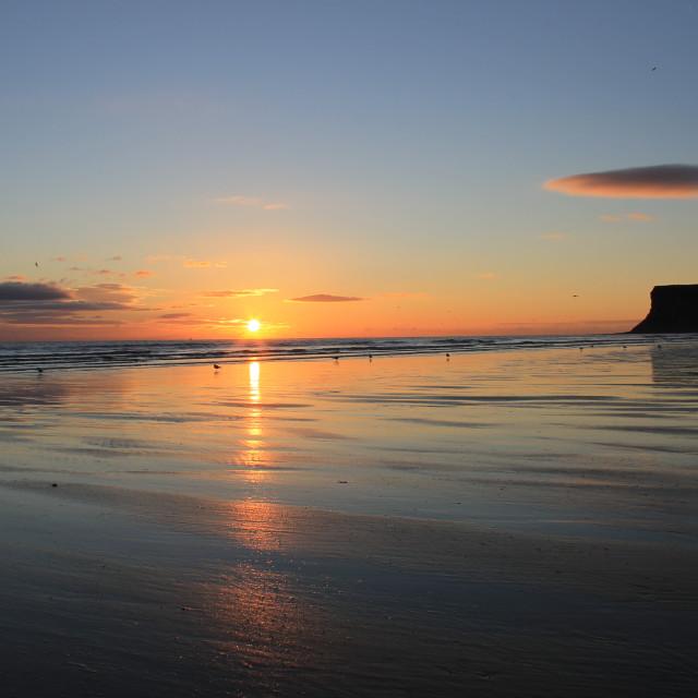 """""""Saltburn Sunrise"""" stock image"""