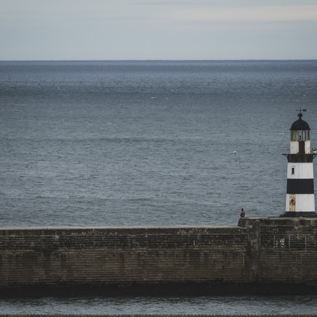"""Seaham harbour lighthouse"" stock image"