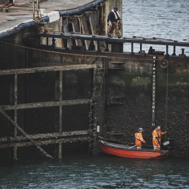 """""""Seaham harbour door"""" stock image"""