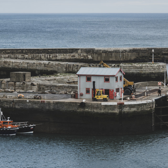 """""""Seaham harbour"""" stock image"""