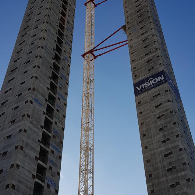 """""""Croydon Towers"""" stock image"""
