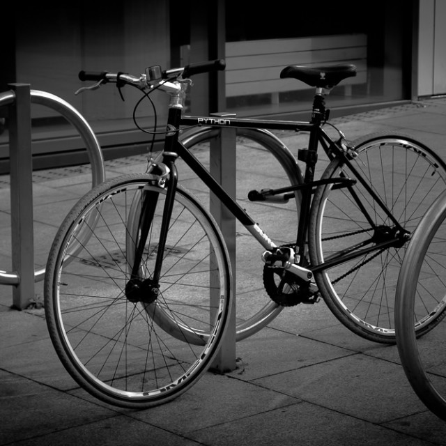 """Bike at rest"" stock image"