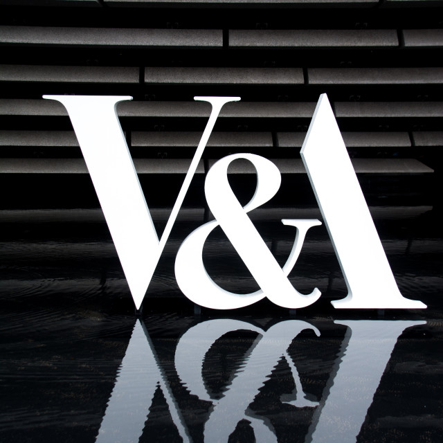 """V&A sign"" stock image"