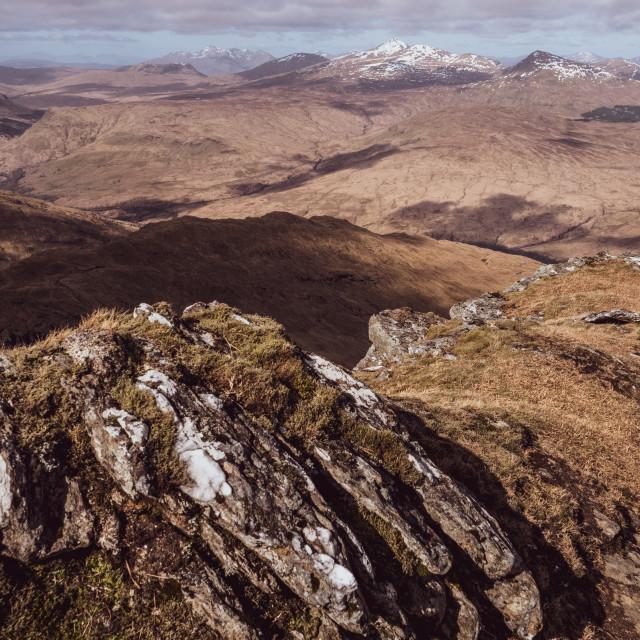 """""""Argyll Munros"""" stock image"""