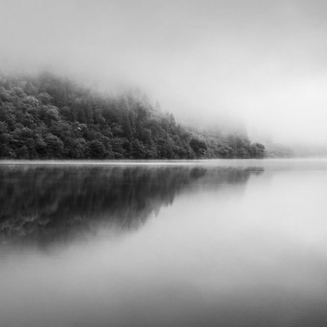 """Calm on Loch Eck"" stock image"